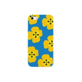 北欧フラワーイエロー Smartphone cases