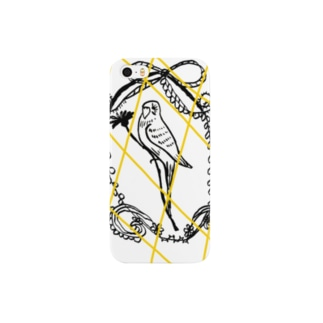 インコイエローネット Smartphone cases
