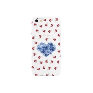 青と赤 スマートフォンケース