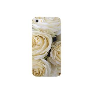 ホワイトローズ Smartphone cases