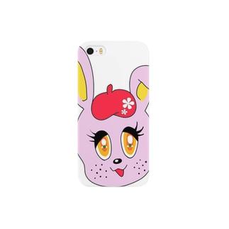 wacaのレトロうさぎ Smartphone cases
