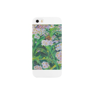 野地菊に蝶 Smartphone cases