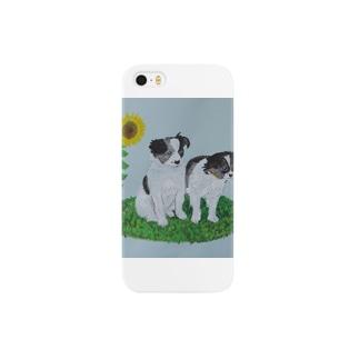 2匹の子犬 Smartphone cases