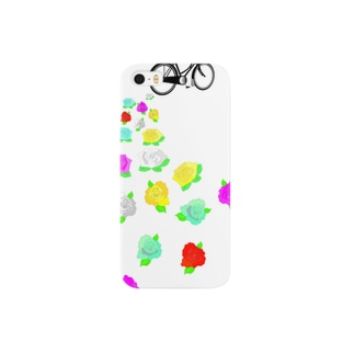 Omafiets と バラ Smartphone cases