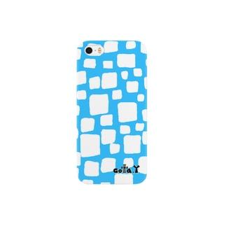 キューブNo.1 スカイブルー Smartphone cases