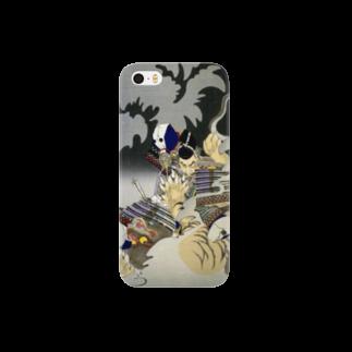 和もの雑貨 玉兎の新形三十六怪撰 内裏に猪早太鵺を刺図【浮世絵・妖怪】 Smartphone cases