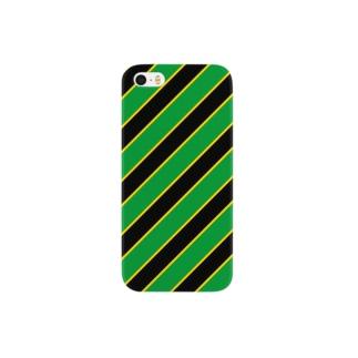 ジャマイカの風を感じるレジメンタル iPhone ケース Smartphone cases