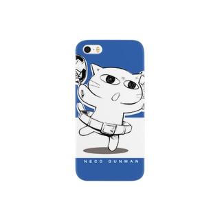 ねこガンマン (ベーシック) Smartphone cases