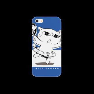 ねこガンマン オフィシャル。のねこガンマン (ベーシック) Smartphone cases