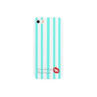 ストライプ kiss me Smartphone cases