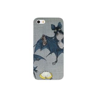 芳年略画 蝙蝠之五段目【浮世絵・忠臣蔵】 Smartphone cases