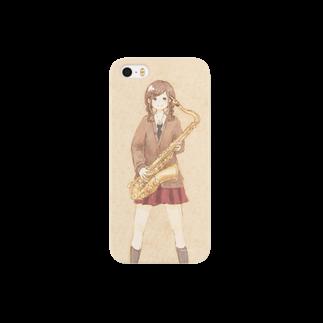 *momochy shop*の*テナーサックス* Smartphone cases