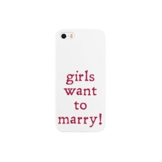 girls want to marry! cardinal & white Smartphone cases