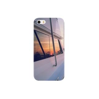 夕焼けのマリーナ Smartphone cases