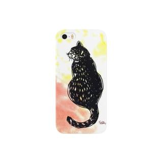 ふり向く猫 Smartphone cases