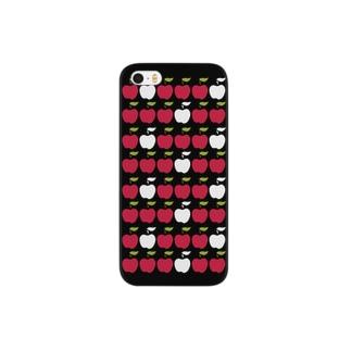 北欧りんご ブラック Smartphone cases