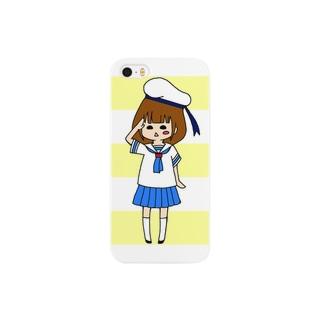 水兵ぽっくる(黄色) Smartphone cases