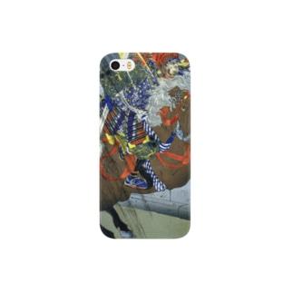 月岡芳年 羅城門渡辺綱鬼腕斬之図 鬼を見上げる渡辺綱【浮世絵・武将】  Smartphone cases