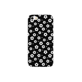 flower05_black Smartphone cases