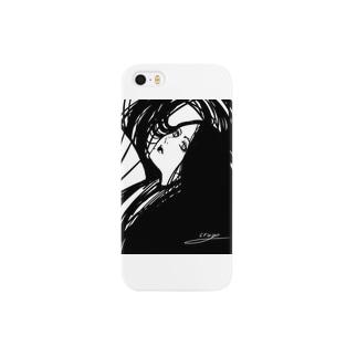 黒の女神(和装) Smartphone cases