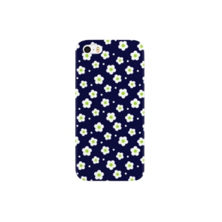 flower05_deep blue Smartphone cases
