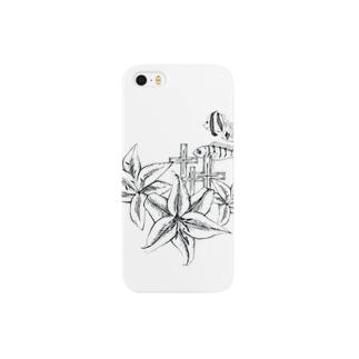 ethuilのFishCrossFlower しろ Smartphone cases