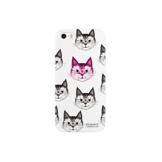 まる子 チラシ柄 ピンク Smartphone cases