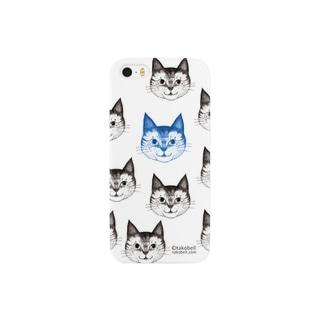 まる子 チラシ柄 ブルー Smartphone cases