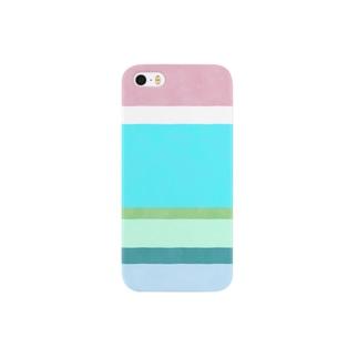 ブロンマのboder01_blue Smartphone cases