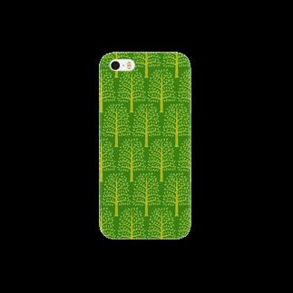 tatsushimbunのforest pattern スマートフォンケース