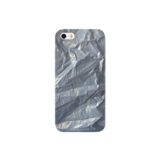 シルバーブルー プリント Smartphone cases