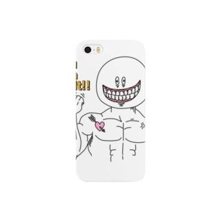 あたまでっかちん(マッチョVer.) Smartphone cases