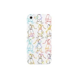 nuta_designのてくてく3 Smartphone cases