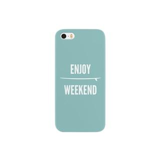 ENJOY WEEKEND/BLUE スマートフォンケース