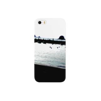 田子島と釣り人 Smartphone cases