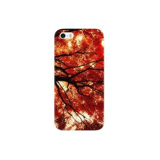 赤と黒のイメージ01 Smartphone cases