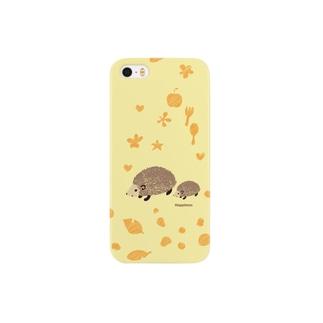 北欧ハリネズミ 親子 Smartphone cases