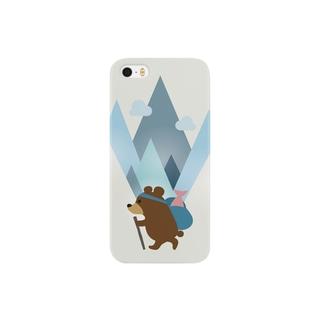 登山熊(鮭つき) Smartphone cases