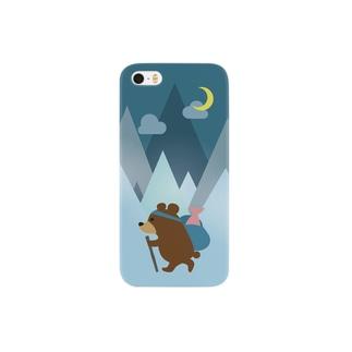 登山熊(鮭つき)夜 Smartphone cases