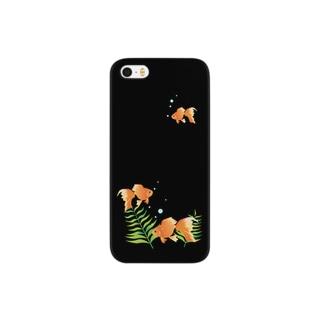 金魚 ブラック Smartphone cases