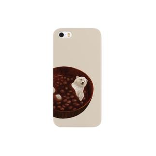 しるくま(おされなベージュ) Smartphone cases