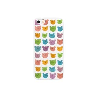 カラフルウゲロくま Smartphone cases