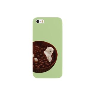 しるくま(しっとりやなぎ色) Smartphone cases