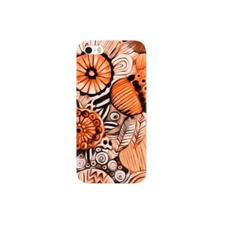 Kissy@Smiley/橙色の花 Smartphone cases