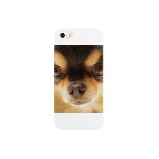 チワワ(ブラックタン) Smartphone cases