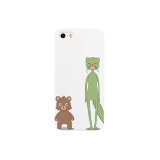 イタチとクマ Smartphone cases