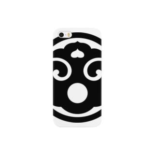日本の家紋 丸に打板 Smartphone cases