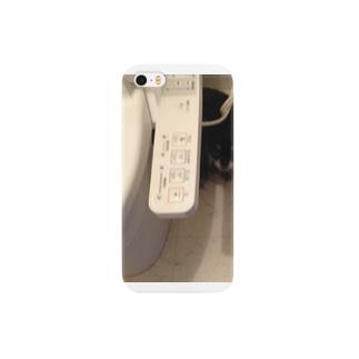 ウォシュレットのうしろに隠れるさん太郎のやつ Smartphone cases