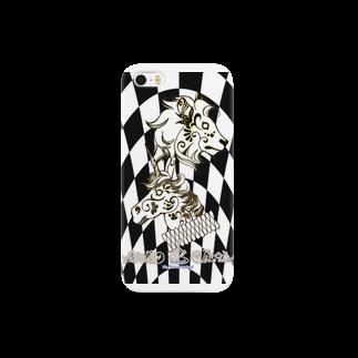 manomanoのライオンとユニコーン Smartphone cases