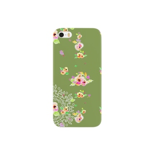 flower ドイリー Smartphone cases